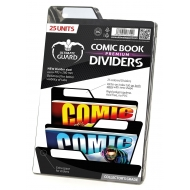 Ultimate Guard - 25 intercalaires pour Comics Premium Comic Book Dividers Noir