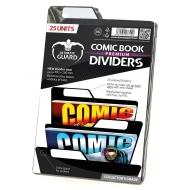 Ultimate Guard - 25 intercalaires pour Comics Premium Comic Book Dividers Noir