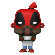 Deadpool 30th Anniversaire - Figurine POP! Coffee Barista Deadpool 9 cm