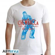 Star Wars - T-shirt Chewbacca blanc