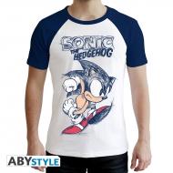 Sonic - T-shirt Sonic blanc & bleu
