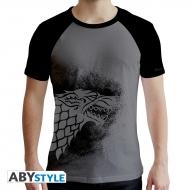 Game Of Thrones - T-shirt Stark gris & noir