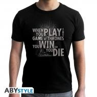 Game Of Thrones - T-shirt Thrones citation noir