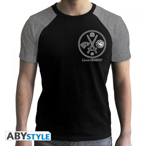 Game Of Thrones - T-shirt Guerre noir & gris