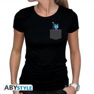 Fairy Tail - T-shirt femme Pocket Happy noir