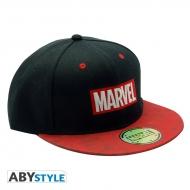Marvel - Casquette snapback Logo Noir & Rouge