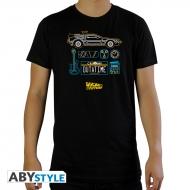 Retour Vers Le Futur - T-shirt DeLorean noir
