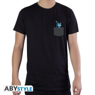 Fairy Tail - T-shirt Pocket Happy noir