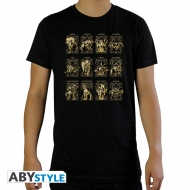 Saint Seiya - T-shirt 12 Armures d'Or noir