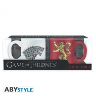 Game Of Thrones - Set 2 mugs à espreso Stark & Lannister