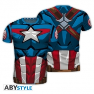 Marvel - T-shirt réplique Captain America homme