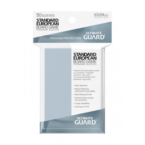 Ultimate Guard - 50 pochettes Premium Sleeves jeux de plateau européens standard format