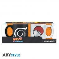 Naruto Shippuden - Set 2 mugs à espresso Konoha & Uchiha