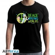 Rick et Morty - T-shirt homme Peace Among Worlds noir