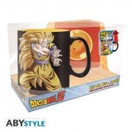 Dragon Ball - Pack Mug Heat Change 460ml+ Coaster Goku Kamehameha