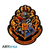 Harry Potter - Plaque métal Poudlard (28x32)
