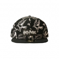 Harry Potter - Casquette Snapback Heraldic Animals BW