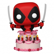 Marvel Deadpool 30th Anniversary - Figurine POP! Deadpool in Cake 9 cm