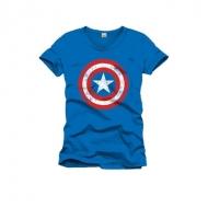 Marvel - Captain America T-Shirt Shield Logo cobalt