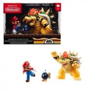 Nintendo - Figurines articulées Mario Vs. Bowser 10cm