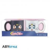 Sailor Moon - Set 2 mugs à espresso Luna & Artemis