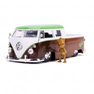 Les Gardiens de la Galaxie - Réplique métal 1/24 Hollywood Rides Bus métal Volkswagen 1962 avec figurine