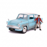 Harry Potter - Réplique 1/24 Hollywood Rides Ford Anglia 1959 métal avec figurine