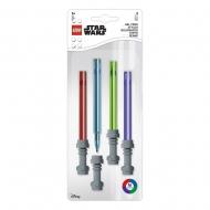Star Wars - Pack 4 stylos à bille à encre gel Sabre Laser