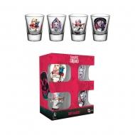 Suicide Squad - Set 4 verres à shot Harley Quinn