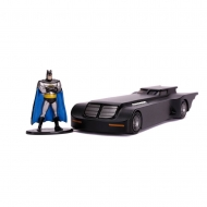 Batman The Animated Series - Réplique métal 1/32 Hollywood Rides Batmobile avec figurine