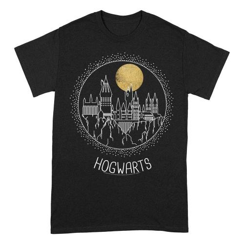 Harry Potter - T-Shirt Hogwarts Line Art