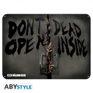 The Walking Dead - Plaque métal Zombies (28x38)
