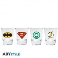 DC Comics - Pack de 4 Shooters Emblèmes
