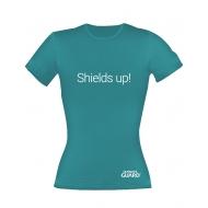 Ultimate Guard - T-Shirt femme Shields Up! Bleu Pétrole