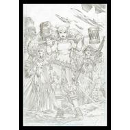 DC Comics - Lithographie Harley Quinn Comic Book Art Print 42 x 30 cm