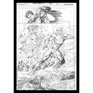 DC Comics - Lithographie Superman & Flash Comic Book Art Print 42 x 30 cm