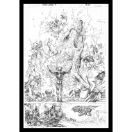 DC Comics - Lithographie Aquaman Comic Book Art Print 42 x 30 cm