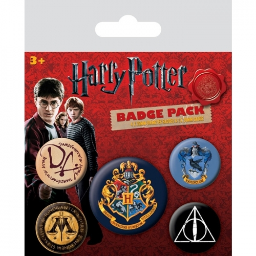 Harry Potter - Pack 5 badges Hogwarts