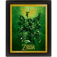 Legend of Zelda - Posters effet 3D encadrés Link 26 x 20 cm