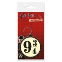 Harry Potter - Porte-clés caoutchouc 9 3/4 6 cm