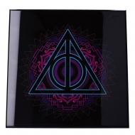 Harry Potter - Décoration murale Crystal Clear Picture Deathly Hallows 32 x 32 cm
