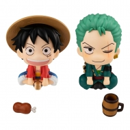 One Piece - Statuettes Look Up Luffy & Zoro Limited Ver. 11 cm