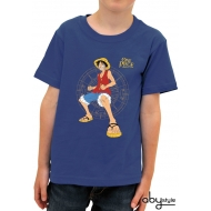 ONE PIECE - Tshirt Luffy Fight enfant MC blue - basic