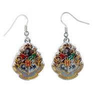Harry Potter - Boucles d'oreille plaqué argent Hogwarts Crest