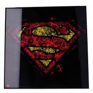 Superman - Décoration murale Crystal Clear Picture Superman 32 x 32 cm