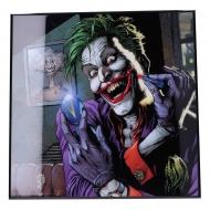 Batman - Décoration murale Crystal Clear Picture The Joker Doomsday Clock 32 x 32 cm