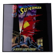 Superman - Décoration murale Crystal Clear Picture The Death of Superman 32 x 32 cm