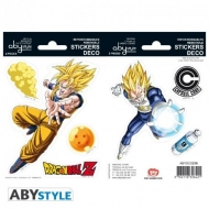 DRAGON BALL - Stickers - 16x11cm/ 2 planches - DBZ/ Goku-Vegeta