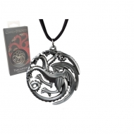Game Of Thrones - Pendentif avec chaînette Targaryen Sigil Costume