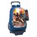 Avengers - Sac à dos 33cm avec trousse et trolley